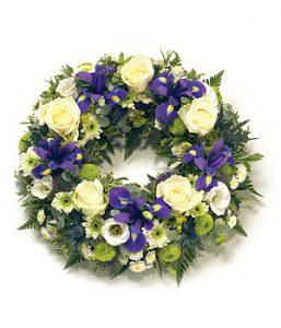 Purpleandwhitewreath